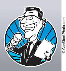 reportero, hombre