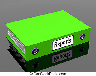 Reports File Showing Business Documents And Accounts