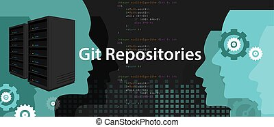 repositories, git, proceso, codificación, programación, servidor, subversion, reserva, software