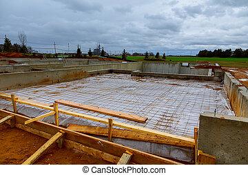 repouso novo, construção, fundação