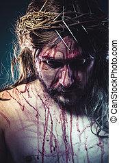 représentation,  jésus, histoire,  christ, croix