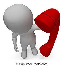 représente, appelle, rendre, caractère, nous, conversation, appeler, 3d