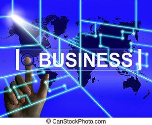 représente, co, business, commerce, écran, internet, ...