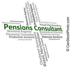 représente, conseiller, pensions, bien-être, employé, occupation