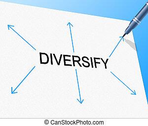 représente, diversité, sac, mélangé, diversifier, multi-...