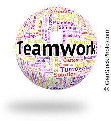 représente, mot, wordcloud, ensemble, unité, collaboration