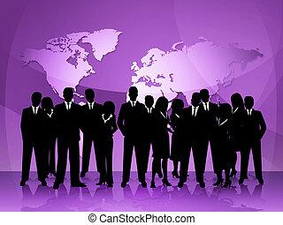 représente, professionnels, collaboration, professionnel, réunion