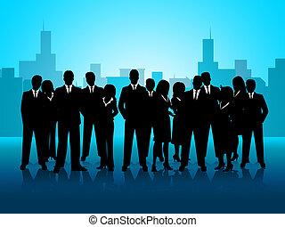 représente, professionnels, réunion, coopération, constitué