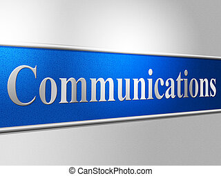 représente, réseau, bavarder, communications globales, ...