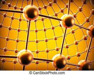 représente, réseau, communications, global, sphères, fond