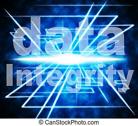 représente, vertueux, intégrité, droiture, sincérité, données