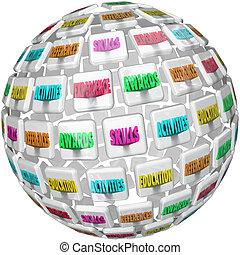 reprendre, expérience, sphère, références, mots, education