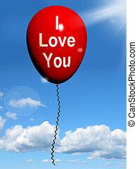 representa, amantes, amor, balloon, pares, tu