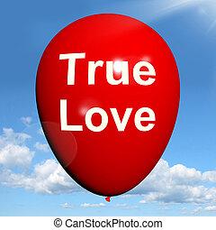 representa, amantes, amor, balloon, pares, verdadeiro