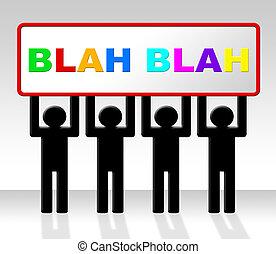 representa, conversación, blah, discurso, diálogo, hablar