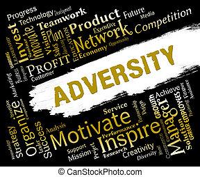 representa, enfermo, adverso, palabras, adversidad, suerte