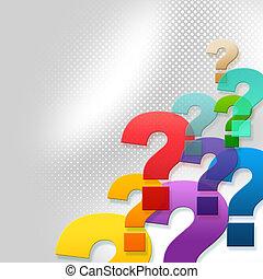 representa, pregunta, preguntas, marcas, respuesta,...