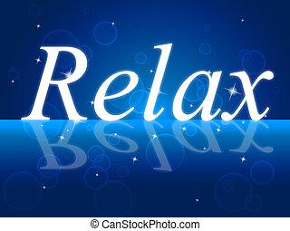 representa, recreação, relaxe, alívio, relaxamento, prazer