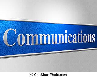 representa, rede, conversando, comunicações globais, ...