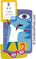 representación, optometría, gráfico