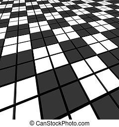 representado, image., abstratos, experiência., pretas, branca, mosaico, 3d