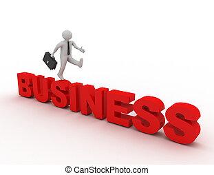 representado, pessoas negócio, -, .3d, ilustração, pequeno, 3d