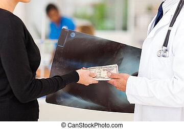 Representante, médico, Sobornar, ventas,  doctor