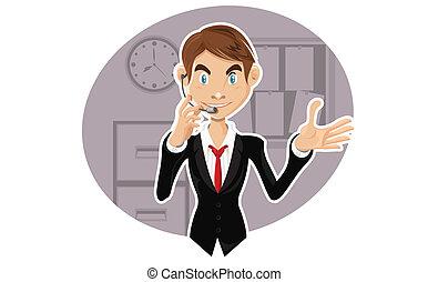 representante, servicio de cliente