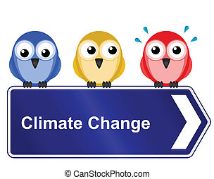 climate change - Representation of climate change warming...