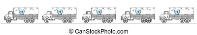 Representation of UN truck convoy