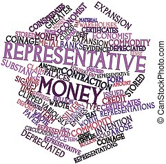 Representative money - Abstract word cloud for...