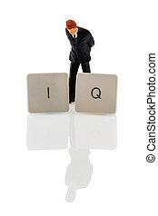 representative photo intelligence quotient - the letters iq...