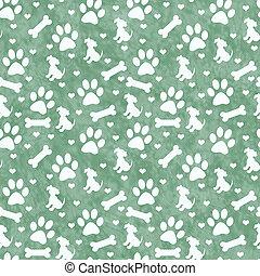 reprise, modèle, arrière-plan vert, carreau, doggy