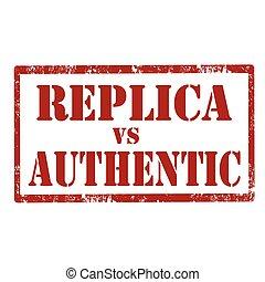reproductie, authentiek, vs