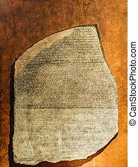 reproductie, van, rosetta steen