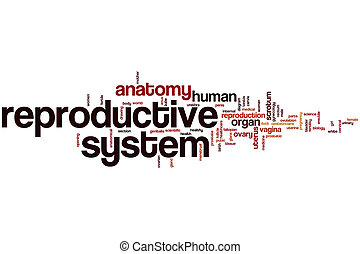 Reproductive system word cloud concept