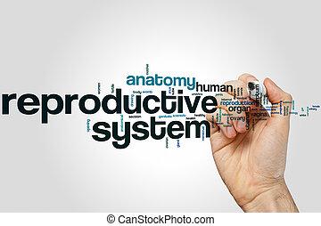 reproductor, palabra, sistema, nube