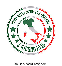 repubblica italiana grunge stamp with on vector illustration