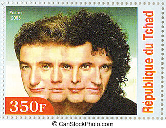 REPUBLIC CHAD ? CIRCA 2003 : The Beatles - 1980s famous...