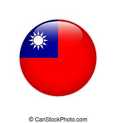 Republic China flag on button