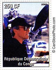 REPUBLIC CONGO - CIRCA 2005 : Clint Eastwood - 1950s famous...