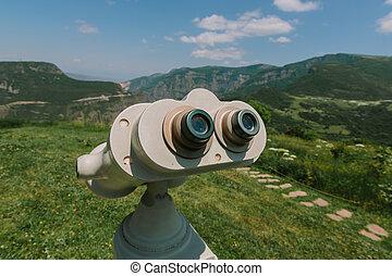 Republic of Armenia. Binocular viewer at Tatev.