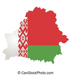 Republic of Belarus flag map