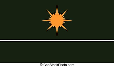 Republic of Ceara flag in proportions and colors vector