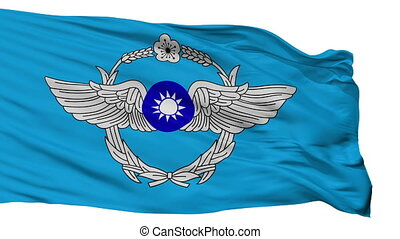 Republic Of China Air Force Flag Isolated Seamless Loop -...