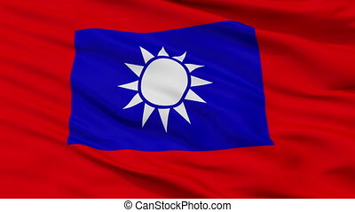 Republic Of China Army Flag Closeup Seamless Loop - Republic...