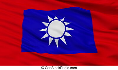 Republic Of China Army Flag Closeup Seamless Loop - The...