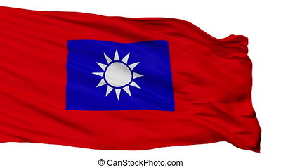 Republic Of China Army Flag Isolated Seamless Loop -...