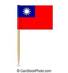 Republic of China flag toothpick. Taiwan