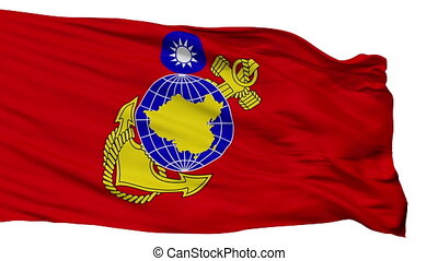 Republic Of China Marine Corps Flag Isolated Seamless Loop -...